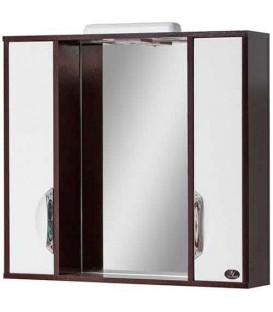 Зеркало в ванную со шкафчиками Венге Лак 80 Van Mebles