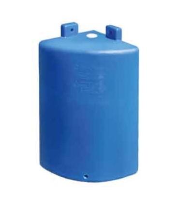 Угловая настенная пластиковая емкость ОDА 80 л